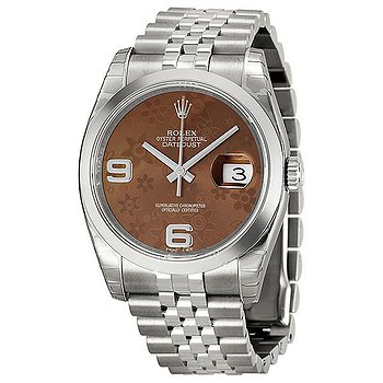 Купить часы Rolex Datejust 36 Bronze Floral Dial Stainless Steel Jubilee Bracelet Automatic Ladies Watch  в ломбарде швейцарских часов