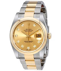Rolex Datejust 36 Champagne Dial Stainless Steel and 18K Yellow Gold Oyster Bracelet Automatic Men's Watch