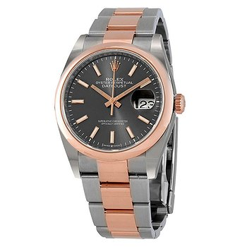 Купить часы Rolex Datejust 36 Dark Rhodium Dial Men's Steel and 18k Everose Gold Oyster Watch  в ломбарде швейцарских часов
