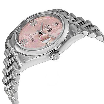 Купить часы Rolex Datejust 36 Floral Pink Dial Stainless Steel Jubilee Bracelet Automatic Ladies Watch  в ломбарде швейцарских часов