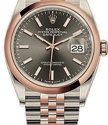 Rolex Datejust36 mm, Oystersteel and Everose gold