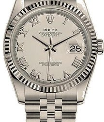 Rolex Datejust 36 MM, OYSTERSTEEL AND WHITE GOLD