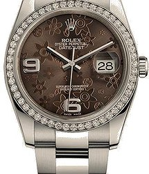 Rolex Datejust36 mm, Oystersteel, white gold and diamonds