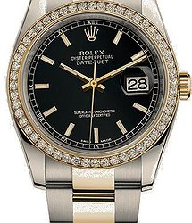 Rolex Datejust 36 mm, steel, yellow gold and diamonds