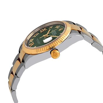 Купить часы Rolex Datejust 36 Olive Green Diamond Dial Men's Stainless Steel and 18kt Yellow Gold Oyster Watch  в ломбарде швейцарских часов