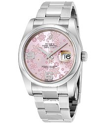 Rolex Datejust 36 Pink floral Dial Stainless Steel Oyster Bracelet Automatic Unisex Watch
