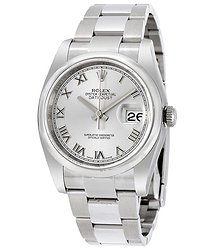 Rolex Datejust 36 Rhodium Dial Stainless Steel Oyster Bracelet Automatic Men's Watch
