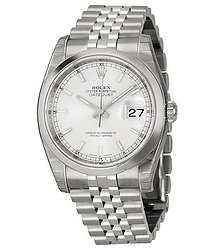 Rolex Datejust 36 Silver Dial Stainless Steel Jubilee Bracelet Automatic Men's Watch