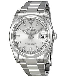 Rolex Datejust 36 Silver Dial Stainless Steel Oyster Bracelet Automatic Unisex Watch 116200SSO