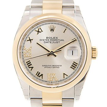 Купить часы Rolex Datejust 36 Silver Diamond Dial Automatic Men's Steel and 18k Yellow Gold Oyster Watch  в ломбарде швейцарских часов