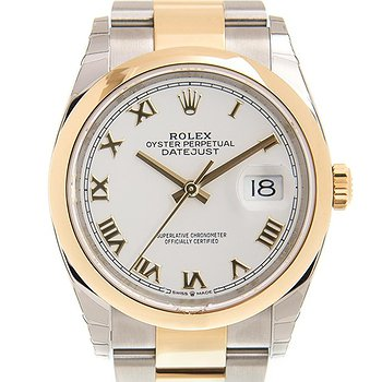 Купить часы Rolex Datejust 36 White Dial Automatic Men's Steel and 18k Yellow Gold Oyster Watch  в ломбарде швейцарских часов