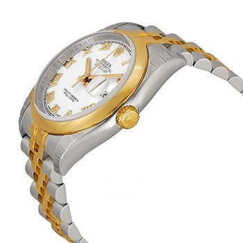 Купить часы Rolex Datejust 36 White Dial Stainless Steel and 18K Yellow Gold Jubilee Bracelet Automatic Men's Watch  в ломбарде швейцарских часов