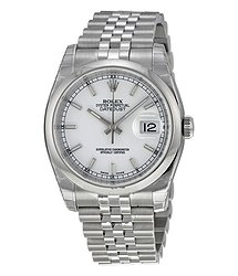 Rolex Datejust 36 White Dial Stainless Steel Jubilee Bracelet Automatic Men's Watch