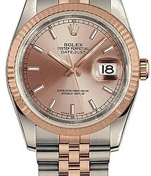 Rolex Datejust 36mm Oystersteel and Everose gold