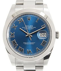 Rolex Datejust 41 Automatic Blue Dial Stainless Steel Men's Watch