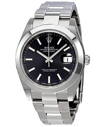 Rolex Datejust 41 Black Dial Automatic Stainless Steel Men's Watch