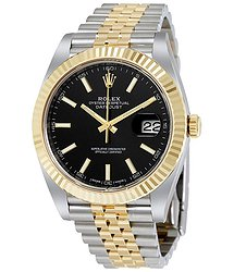 Rolex Datejust 41 Black Dial Steel and 18K Yellow Gold Jubilee Men's Watch