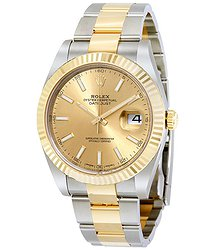 Rolex Datejust 41 Champagne Dial Steel and 18K Yellow Gold Oyster Men's Watch
