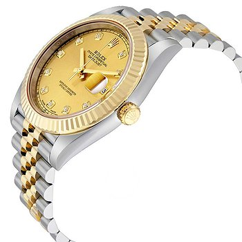 Купить часы Rolex Datejust 41 Champagne Diamond Steel and 18K Yellow Gold Jubilee Men's Watch  в ломбарде швейцарских часов