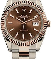 Rolex Datejust 41 mm, Oystersteel and Everose gold
