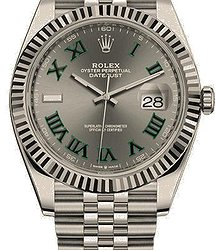 Rolex Datejust41 mm, Oystersteel and white gold