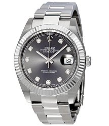 Rolex Datejust 41 Rhodium Diamond Dial Automatic Men's Watch
