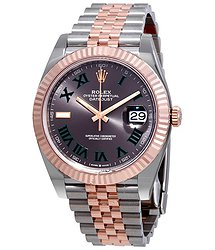 Rolex Datejust 41 Slate Dial Automatic Men's Steel and 18k Everose Gold Jubilee Watch