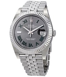 Rolex Datejust 41 Slate Dial Automatic Men's Steel and White Gold Jubilee Watch 126334GYRO