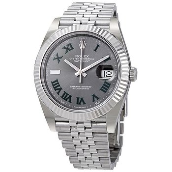 Купить часы Rolex Datejust 41 Slate Dial Automatic Men's Steel and White Gold Jubilee Watch 126334GYRO  в ломбарде швейцарских часов