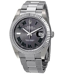 Rolex Datejust 41 Slate Dial Automatic Men's Steel and White Gold Oyster Watch