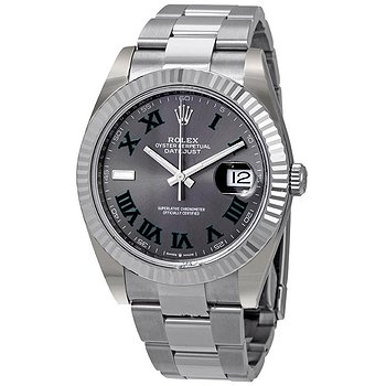 Купить часы Rolex Datejust 41 Slate Dial Automatic Men's Steel and White Gold Oyster Watch  в ломбарде швейцарских часов