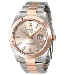 Rolex Datejust 41 Sundust Dial Steel and 18K Rose Gold Men's Watch