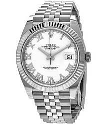 Rolex Datejust 41 White Dial Automatic Men's Jubilee Watch