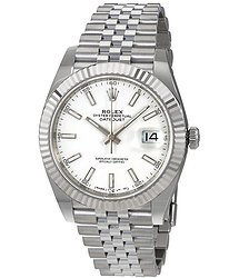 Rolex Datejust 41 White Dial Automatic Men's Watch