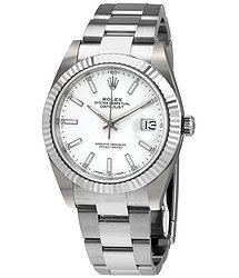 Rolex Datejust 41 White Dial Oyster Automatic Men's Watch