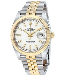 Rolex Datejust 41 White Dial Steel and 18K Yellow Gold Jubilee Men's Watch
