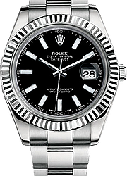 Rolex Datejust 41mm Steel and White Gold 116334 Black