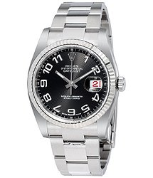 Rolex Datejust Black Concentric Dial Steel and 18K White Gold Men's Watch