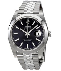 Rolex Datejust Black Dial Automatic Men's Jubilee Watch