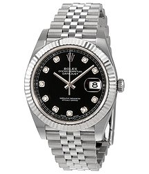 Rolex Datejust Black Diamond Dial Automatic Men's Jubilee Watch