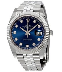 Rolex Datejust Blue Diamond Dial Automatic Men's Jubilee Watch