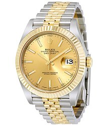 Rolex Datejust Champagne Dial Steel and 18K Yellow Gold Jubilee Men's Watch