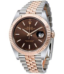 Rolex Datejust Chocolate Dial Steel and 18K Everose Gold Jubilee Men's Watch CHSJ