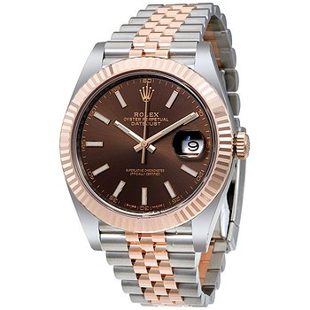 Купить часы Rolex Datejust Chocolate Dial Steel and 18K Everose Gold Jubilee Men's Watch CHSJ  в ломбарде швейцарских часов