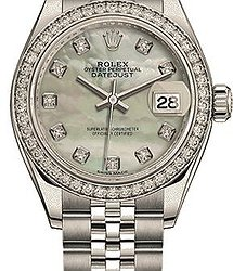 Rolex Datejust LADY 28 MM, OYSTERSTEEL, WHITE GOLD ANDDIAMONDS