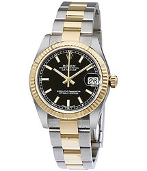 Rolex Datejust Lady 31 Black Dial Stainless Steel and 18K Yellow Gold Oyster Bracelet Automatic Watch