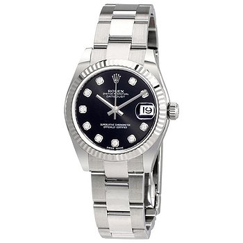 Купить часы Rolex Datejust Lady 31 Black Dial Stainless Steel Oyster Bracelet Automatic Watch  в ломбарде швейцарских часов