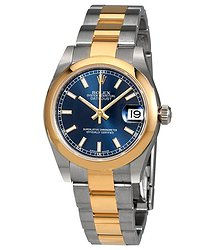 Rolex Datejust Lady 31 Blue Dial Stainless Steel and 18K Yellow Gold Oyster Bracelet Automatic Watch