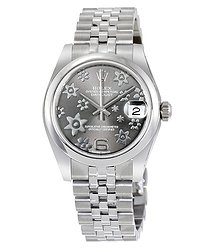 Rolex Datejust Lady 31 Floral Rhodium Dial Stainless Steel Jubilee Bracelet Automatic Watch