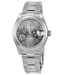 Rolex Datejust Lady 31 Floral Rhodium Dial Stainless Steel Oyster Bracelet Automatic Watch